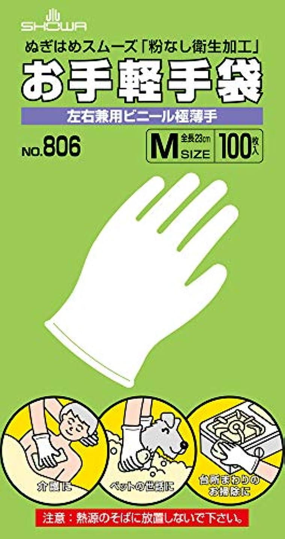 ご覧ください残高無傷SHOWA ショーワグローブ お手軽手袋 №806 Mサイズ 100枚入x 10函 【まとめ】