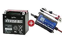 バイクバッテリー充電器+YTX14-BSセット■■GSユアサ(YUASA)【長寿命・保証書付】【日本語説明書付き】