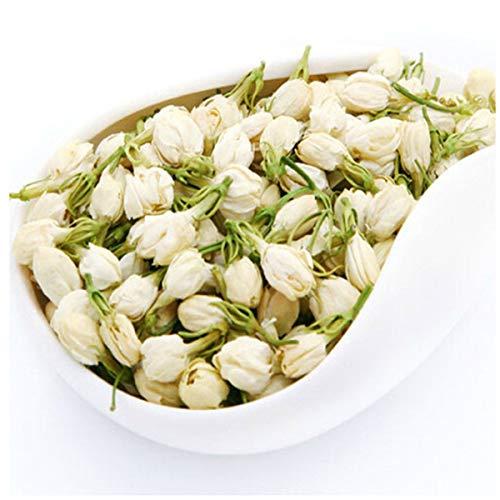 100%天然オーガニックハーブティージャスミンの花茶ジャスミンの香りのよい緑茶 50g(0.11LB)グリーンティー中国茶健康茶グリーンフードChinese tea Jasmine Flower Tea Green tea Scented Tea