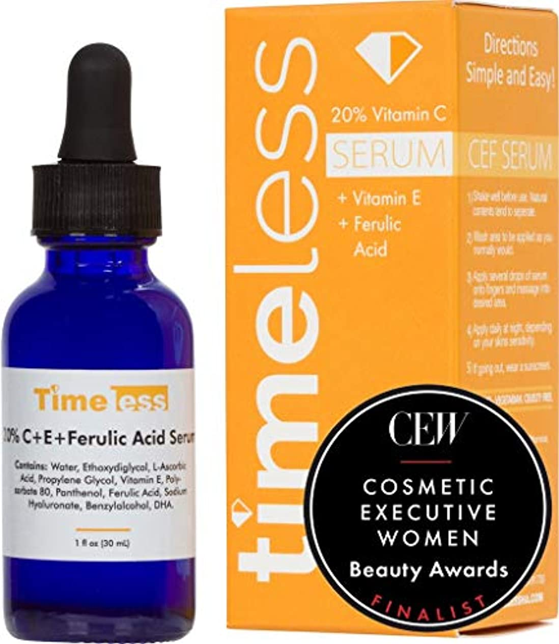 一掃する親指巨大Timeless Skin Care 20% Vitamin C + E Ferulic Acid Serum 30ml /1oz - Sealed & Fresh Guaranteed! Dispatch from the UK