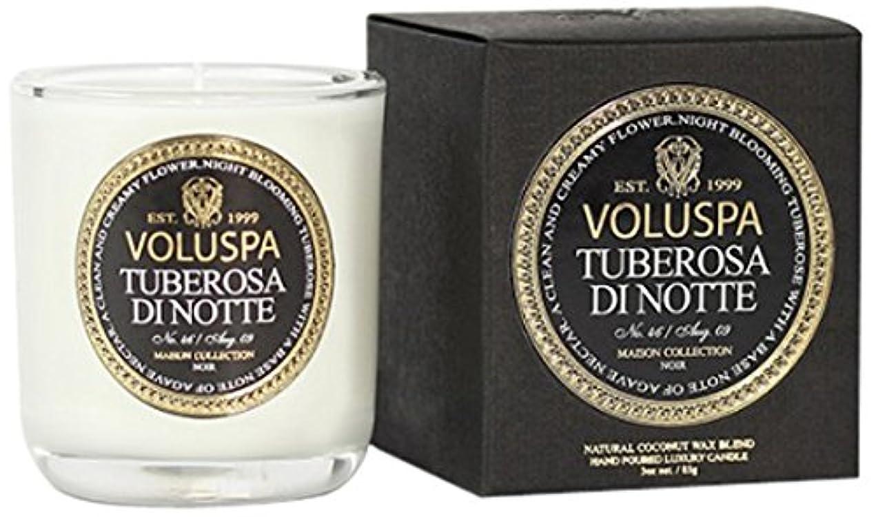 中にそのような省略するVoluspa ボルスパ メゾンノワール ミニグラスキャンドル チューベローズ ディ ノッテ MAISON NOIR Mini Glass Candle TUBEROSA DI NOTTE