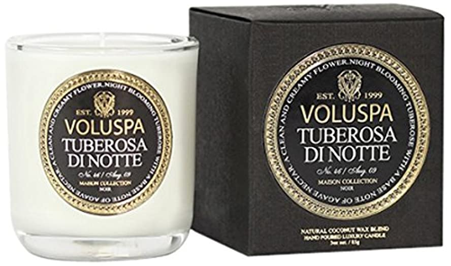 定期的銛制裁Voluspa ボルスパ メゾンノワール ミニグラスキャンドル チューベローズ ディ ノッテ MAISON NOIR Mini Glass Candle TUBEROSA DI NOTTE