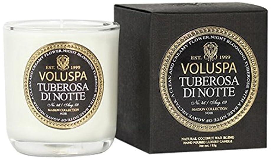 ビリーラインナップ間欠Voluspa ボルスパ メゾンノワール ミニグラスキャンドル チューベローズ ディ ノッテ MAISON NOIR Mini Glass Candle TUBEROSA DI NOTTE