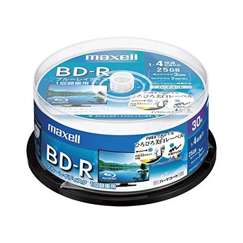maxell 録画用BD-R 25GB 4倍速対応 30枚入...