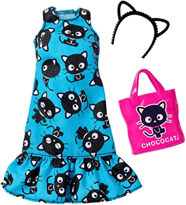 バービー人形 着替え用洋服 CHOCO CATフリルワンピース アクセサリーファッションセット