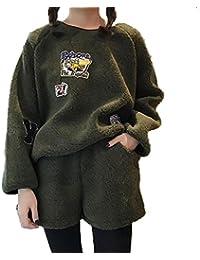 アイビエツ(AIBIETU)レディース おしゃれ 長袖 パーカー 上下セット カジュアル ファッション ショートパンツ 2点セット 秋冬