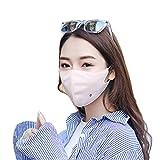 Anyfashion 全4色 UPF 40+ 花粉 対策 日焼け防止 フェイスカバー UVカット UVガード マスク (耳かけヒモ付き) (ライトピンク)