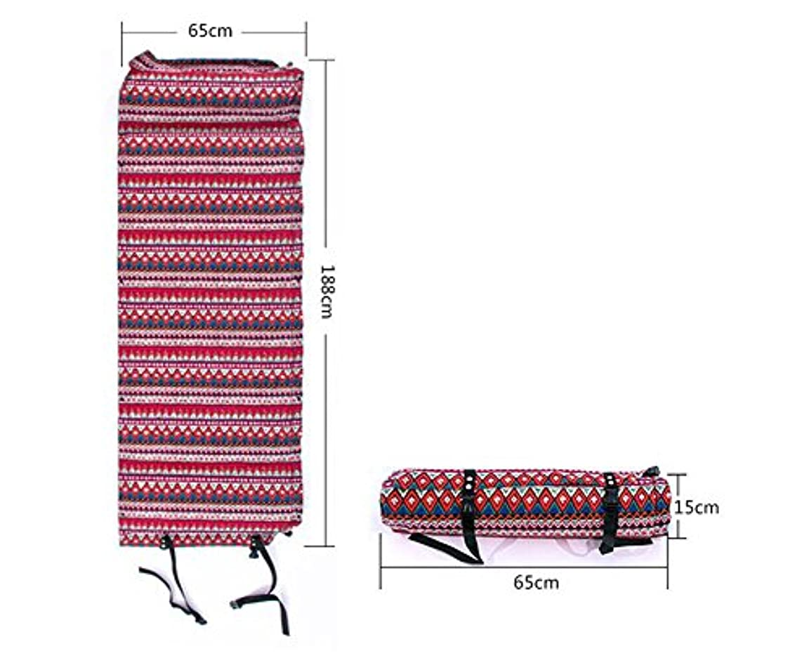 地味な鎖法医学ゼロInflatable Sleepingマットキャンプマットレスエスニックスタイルアウトドアバックハイキングマットsd-09842