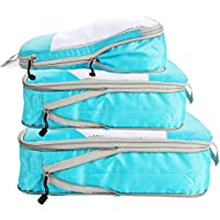 Compression Packing Cubes for Travel with Shoe Bag and Laundry Bag,5pcs Travel Cubes for Packing