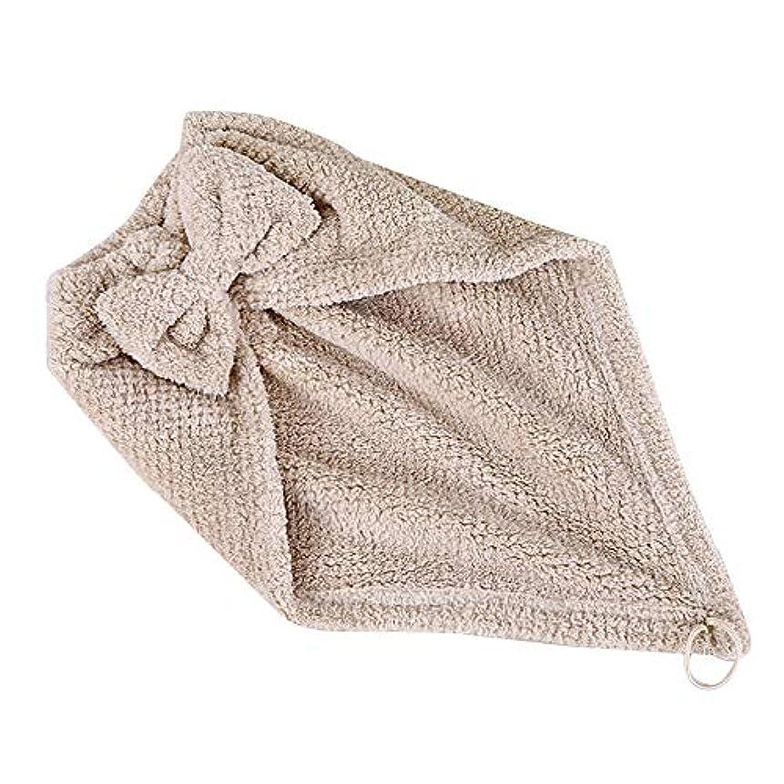 風味君主仲人ボコダダ(Vocodada)タオルキャップ ヘアキャップ 吸水 ヘアドライタオル 速乾 マイクロファイバー ヘア 乾燥 タオル 帽子 キャップ 風呂 ふわふわ コーラルフリース 厚い 三角形 46.5*25cm (カーキ)
