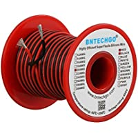 [BNTECHGO]BNTECHGO 20 Gauge Silicone Wire 100 feet 2 Colors [50 ft Black And 50 ft Red] Soft and Flexible High [並行輸入品]