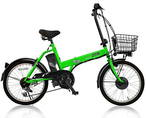 AIJYU CYCLE 折りたたみ電動アシスト自転車 パスピエ20R シマノ6段ギア 20インチ 5Ahリチウムイオンバッテリー 型式認定車両(TSマーク) (グリーン)