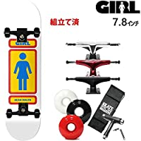 GIRL(ガール) スケボー コンプリート ガール GIRL 93 TIL/ホワイト SEAN MALTO 7.8x31.25インチ 選べるトラックとウィール スケートボード 完成品 ディープレッドトラック5.25 ソフト56mmホワイト