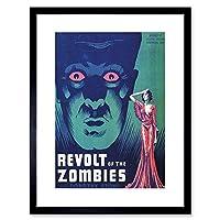Film Movie Revolt Zombies Stone Monsters Picture Framed Wall Art Print 膜映画モンスター画像壁