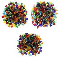 ガラス モザイクタイル 三角形/正方形/菱形 DIY ハンドメイド クラフト 手作り 約480g