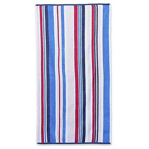 """Luxorリネン–オーバーサイズビーチタオルは、ソフト耐久性–Ocean Club綿100%ビーチタオル–完璧なラグジュアリービーチやプールタオル–4Colors Available–30"""" x 60"""" 1 Towel COMIN18JU029461"""