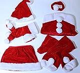 ( サイズ展開あります )クリスマス 彼氏も 喜ぶ かわいい コスプレ スカート 6点セット サンタガール コスチューム (Lサイズ)