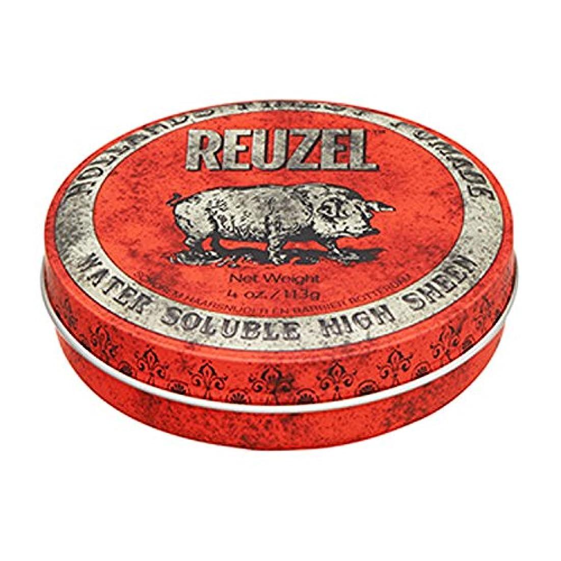 ヨーロッパ大胆経済ルーゾー REUZEL HIGH SHEEN ノーマルホールド レッド 113g