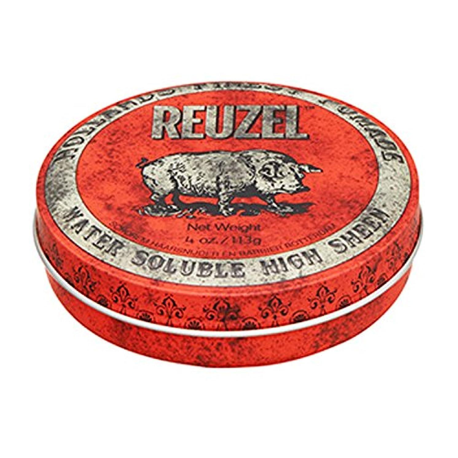 より平らな折る羊の服を着た狼ルーゾー REUZEL HIGH SHEEN ノーマルホールド レッド 113g