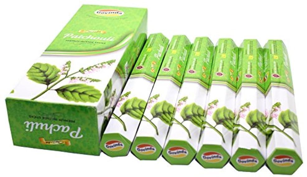 名詞丁寧サスペンドGovinda Patchouli Masalaコーティング120 Incense Sticks