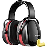 AVANTEK Ear Protection, 34dB Highest NRR Professional Hearing Protection Noise Reduction Safety Ear Muffs Set with Earplugs and Carrying Pouch, Twist Resistant Headband for Durable and Comfortable Fit