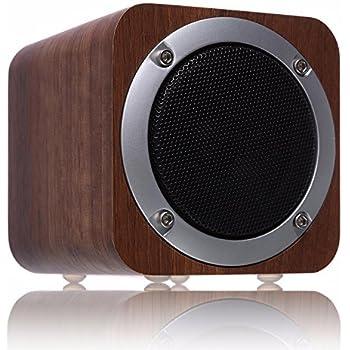 【進化版】Bluetooth スピーカー ZENBRE F3 木製 ポータブル ウッドワイヤレススピーカー 高音質 大音量 低音強化【70mm大喇叭/ベース/FMラジオ/AUX/SDカード】(ブラック)