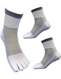 【SP941】底パイル&高級コーマ綿糸でソフトな履き心地 蒸れずに快適綿5本指靴下 安全靴や作業用に 白3足組 24.5~27