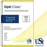 Optiクリア熱Laminating Pouches /シート、メニューサイズ(ダブル) 5 Mil