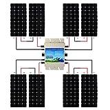 ECO-WORTHY 1200W グリッド ソーラーパネルキット: 1200W MPPT機能 防水インバーター*1個+160W 単結晶ソーラーパネル*8個