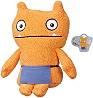 """UglyDolls - Warm Wishes Wage 10"""" Plush Figure - Orange Doll Wearing Purple Apron with Letter - Kids Toys - Ages 4+"""