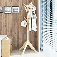 ソリッドウッドコートラック垂直ハンガーホームベッドルームリビングルームシンプルな洋服棚 (色 : B)