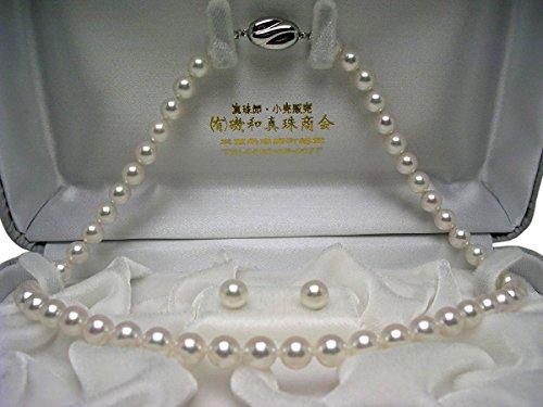 イソワパール アコヤ真珠 7-7.5mm ネックレス ピアス セット 7.5-8mm ホワイトピンク 60070 pearl