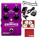 Source Audio SA245 Kingmaker Fuzz Guitar Effects Pedal with 9V Power Supply Patch Cables Tuner Polish Cloth and Picks [並行輸入品]