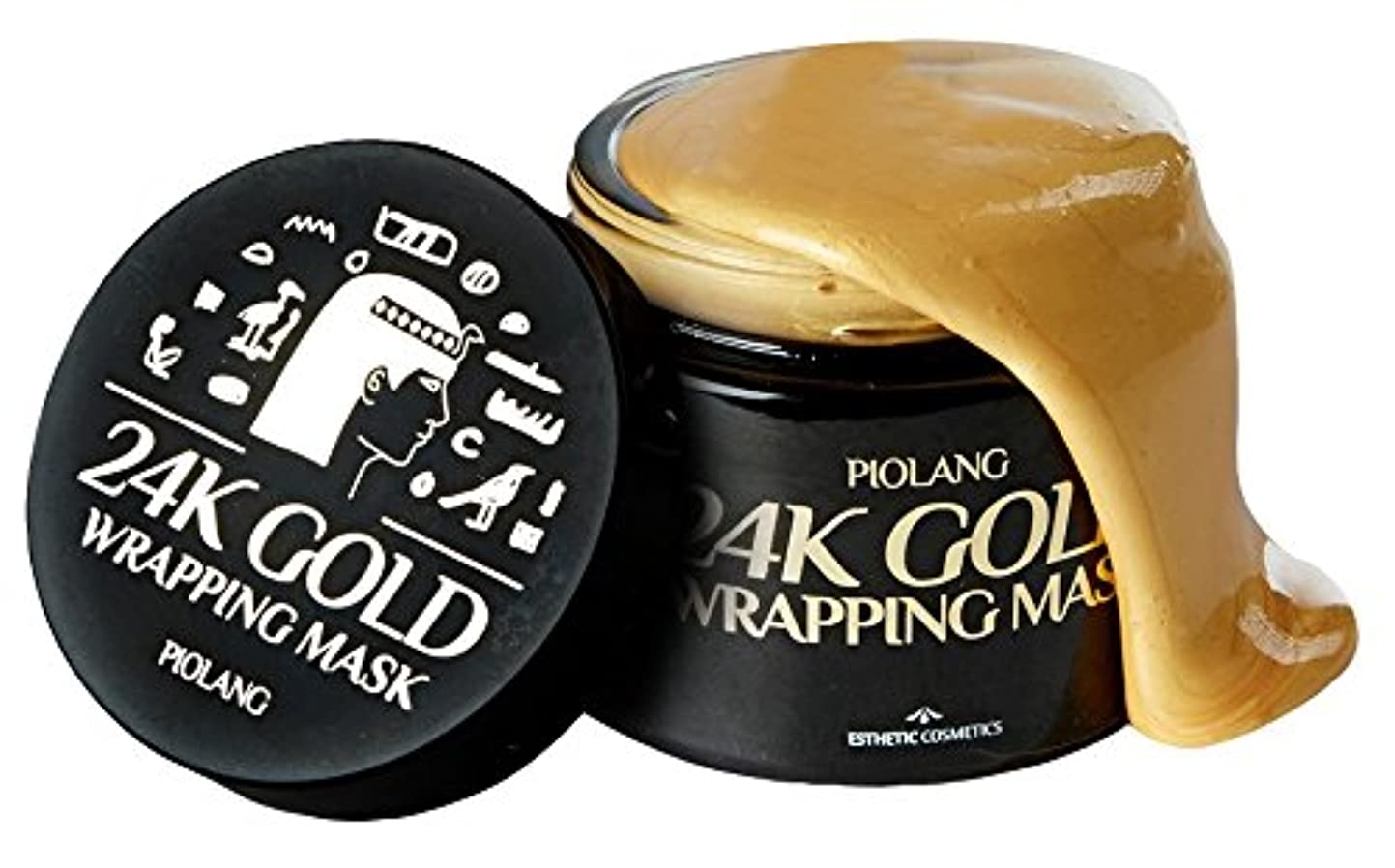 北米惑星マートkoreangs 韓国製 ピオラング 24K ゴールド ラッピングマスク 赤みを抑えるバランス フェイスカラー 自然な輝きを取り戻し疲れた肌をリフレッシュ- 80ml By
