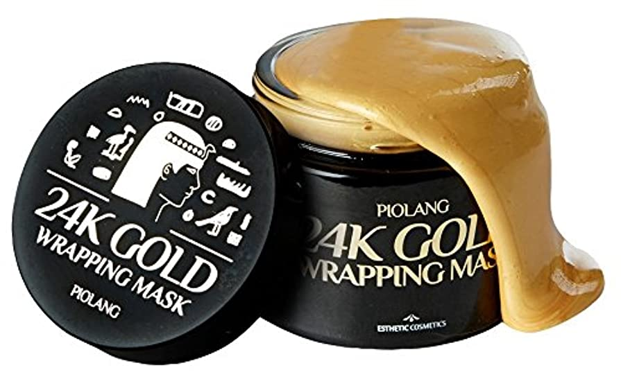 イル伝統的シャッターkoreangs 韓国製 ピオラング 24K ゴールド ラッピングマスク 赤みを抑えるバランス フェイスカラー 自然な輝きを取り戻し疲れた肌をリフレッシュ- 80ml By