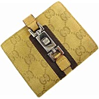 [グッチ] GUCCI 二つ折り財布 GGキャンバス キャンバス×レザー X16405 中古