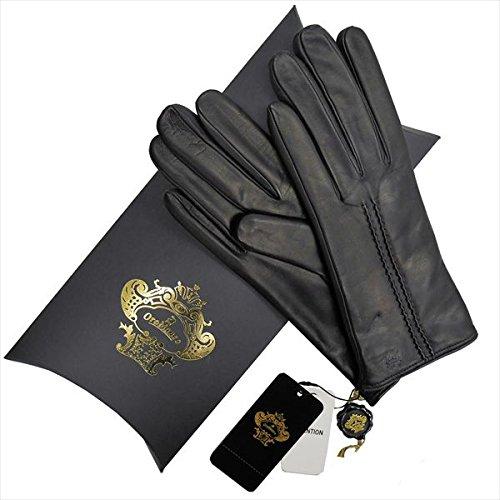 (オロビアンコ) OROBIANCO レディース手袋 OR-2000L-1M Leather glove 羊革/ウール BLACK サイズ:7(20cm) ブラック 女性用 レザー