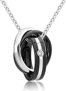 [レッドダイス] メンズネックレス ネックレス ペンダント 人気 男性用 チェーン チェーンネックレス シルバーネックレス (3連リング)