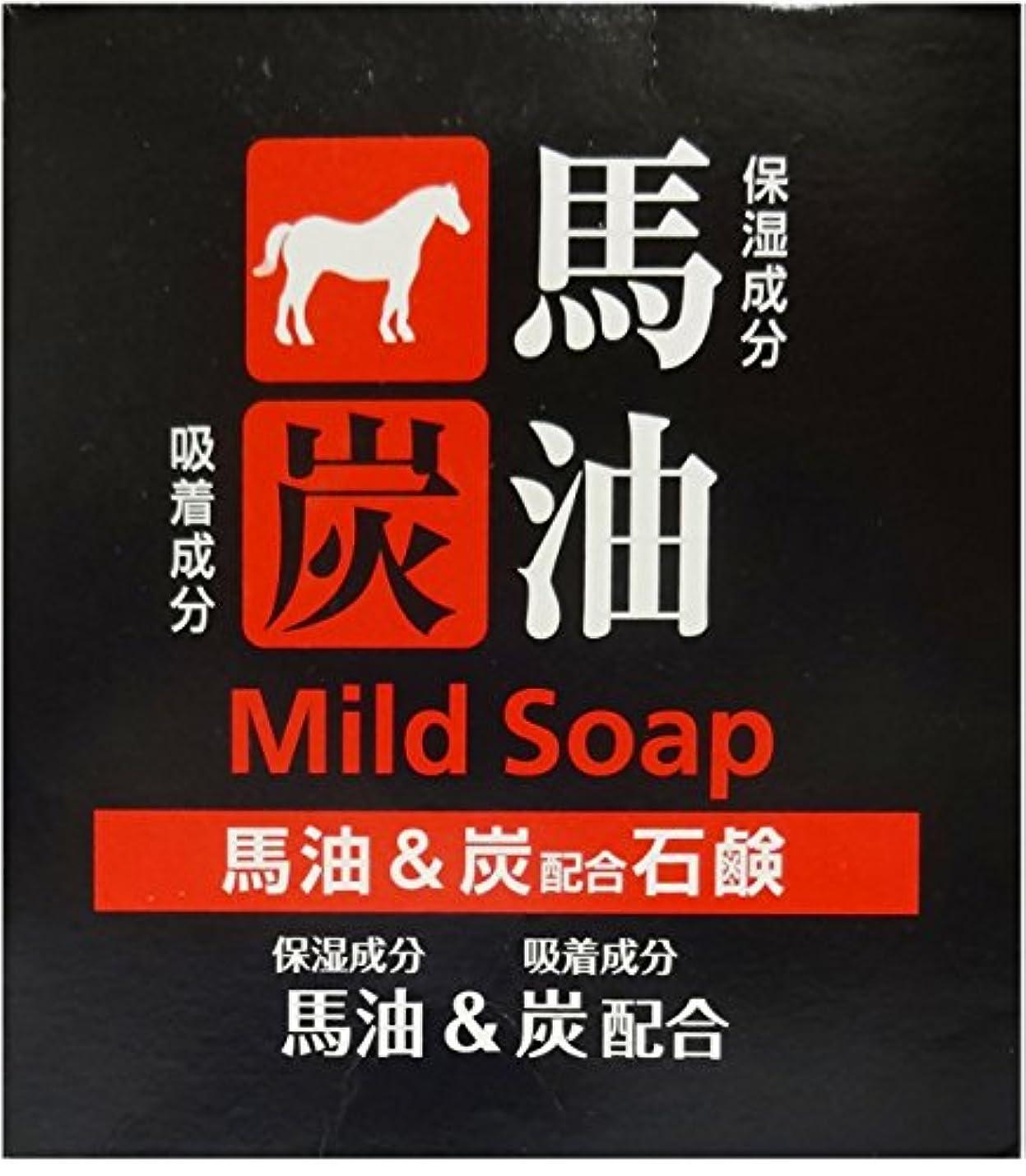 最適寸前明らかにTKコーポレーション 馬油&炭配合石鹸 100g