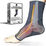 足首ブレース圧縮スリーブ|アーチサポート|足Sock for Injuryリカバリ、関節痛、腫れ、アキレス腱| Pain ReliefからヒールSpurs、足底筋膜炎|通気性|レディース&メンズ グレイ