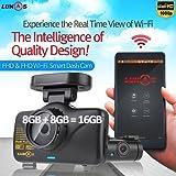 (ルーカス) Lukas Lk-7950WD FHD & FHD Wi-Fi スマート 2CH ダッシュカム GPS付き (8GB+8GB=16GB)
