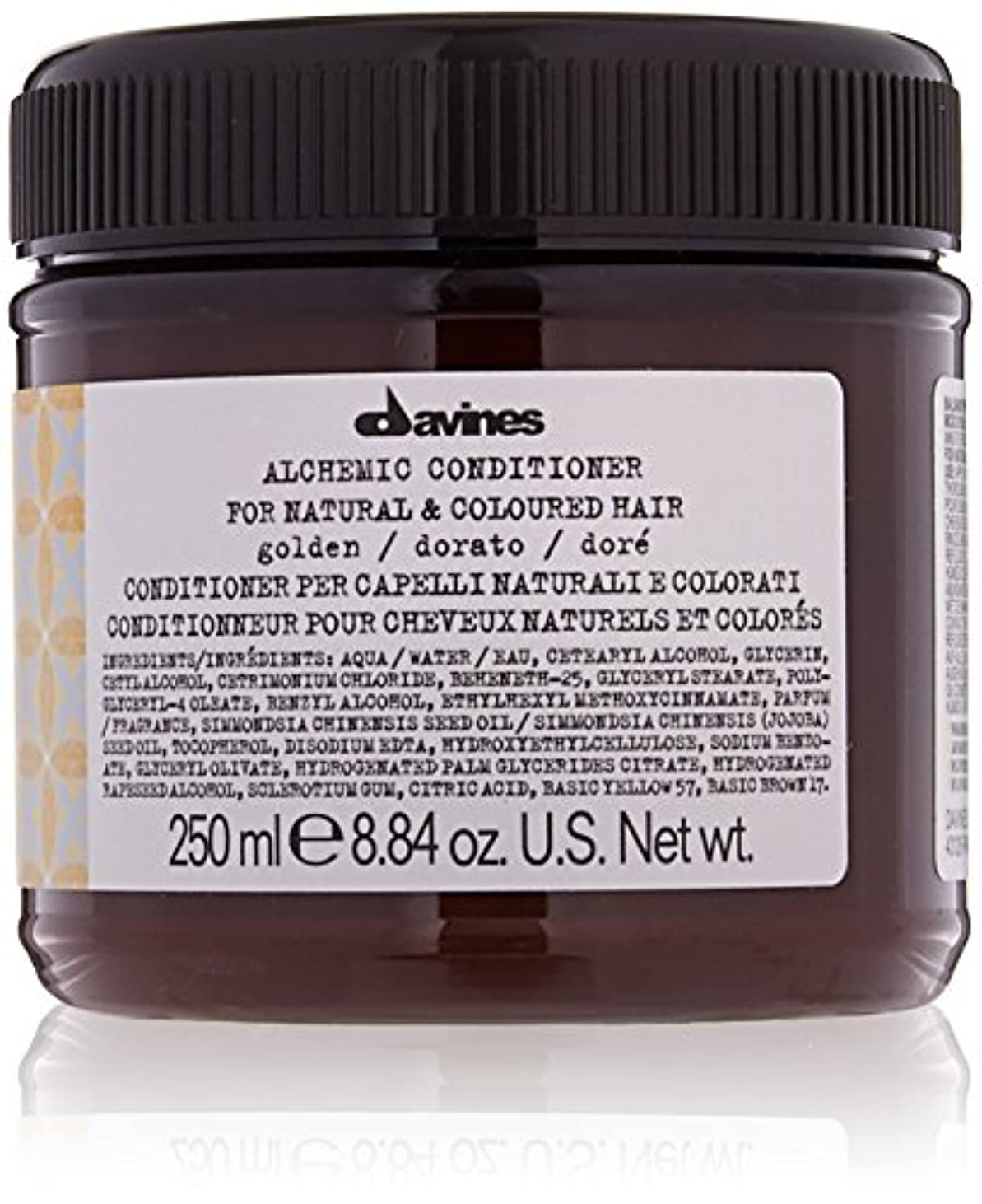 世界記録のギネスブック亜熱帯くダヴィネス Alchemic Conditioner - # Golden (For Natural & Coloured Hair) 250ml/8.84oz並行輸入品