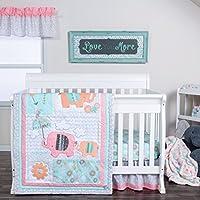 Trend Lab Playful Elephants 3 Piece Crib Bedding/Nursery Set [並行輸入品]