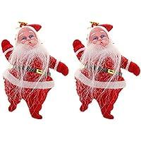 Demiawaking クリスマス ペンダント クリスマスツリー デコレーション ミニサンタクロース 玄関飾り ギフト 飾り 可愛い おしゃれ 2個セット
