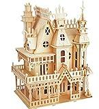作って 楽しい 3D パズル 木製 ミニチュア ハウス 家具 家 城 ウッドクラフト ハンドメイド インテリア