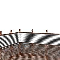 ベランダ バルコニー シェード 日よけ 目隠し プライバシー UVカット 簡単設置 カット可能 ハトメ 460×90cm (グレー)