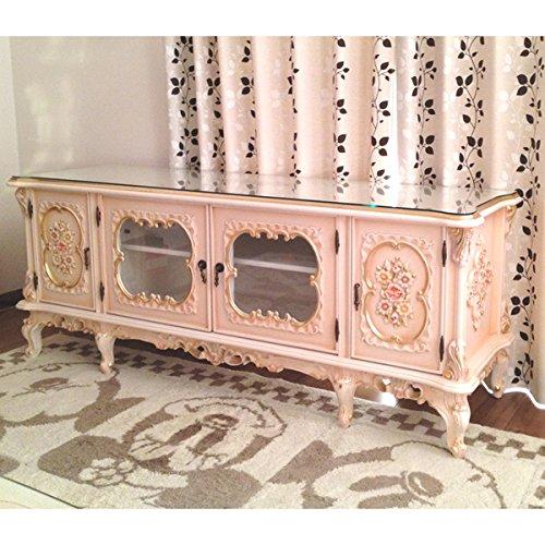輸入家具:お姫様のロココ調家具:猫脚オーディオキャビネット1968-150【プリンシペッサ】