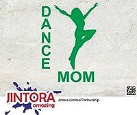 JINTORA ステッカー/カーステッカー - Moms dance - ママのダンス - 88x121mm - JDM/Die cut - 車/ウィンドウ/ラップトップ/ウィンドウ- グリーン