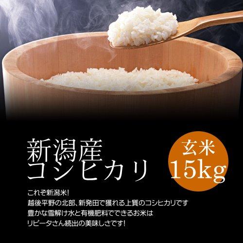 【お取り寄せグルメ】新潟産コシヒカリ 玄米 15kg(5kg×3袋)/冷めても美味しい新潟米