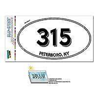 315 - Peterboro, NY - ニューヨーク - 楕円形市外局番ステッカー